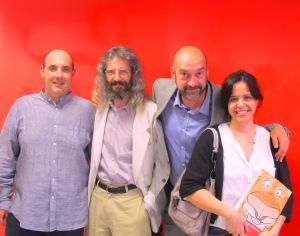Alfonso Ruiz, Fernando Salgado, Antonio Martín y Mónica Santos